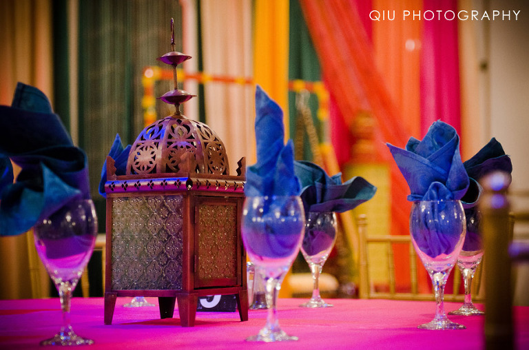 2. Roma's Hospitality Centre Wedding Mehndi Table
