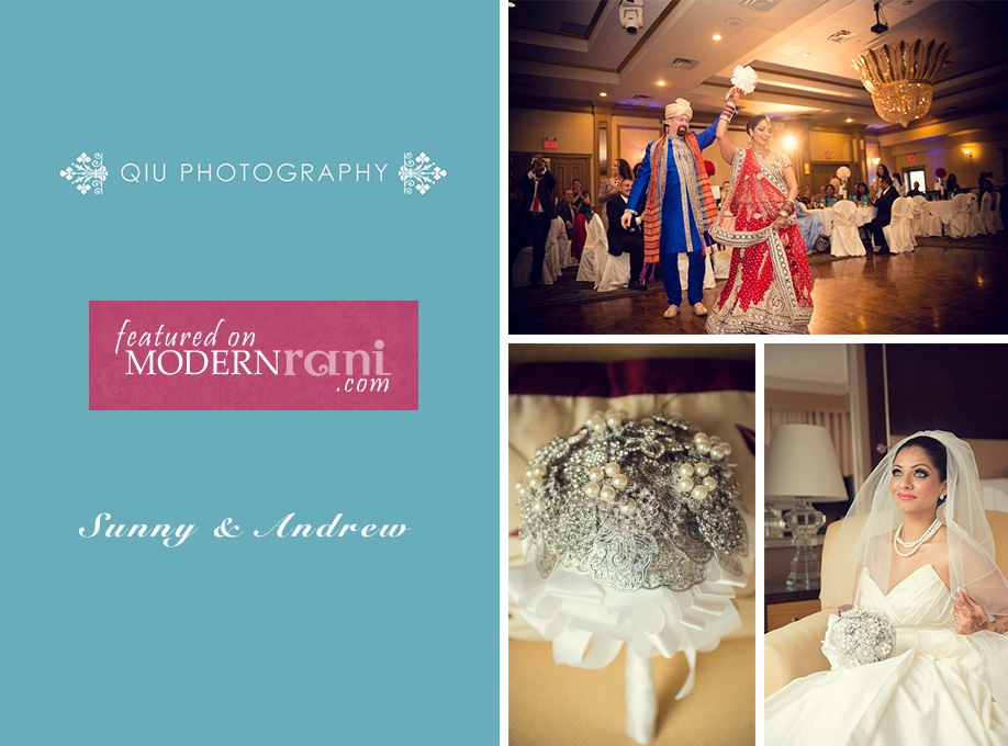 Sunny and Andrew Feature Featured on Modern Rani | Toronto South Asian Wedding Photography | Woodbine Convention Centre