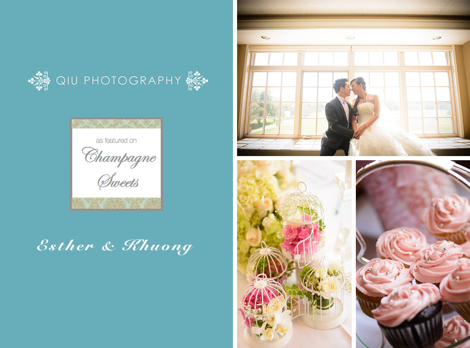 Champagne Sweets Qiu Photography1 Featured on Champagne Sweets | Toronto Wedding Photography | Sunningdale Golf & Country Club | Esther and Khuong