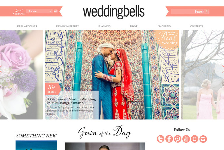 Toronto South Asian Wedding Photography Featured(pp w768 h513) Featured on Wedding Bells | Toronto South Asian Wedding Photography | Nazeema and Jameel