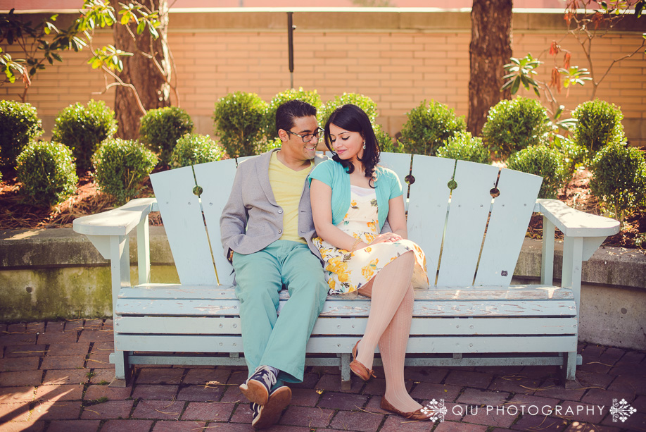 Mississauga Engagement Photography Civic Centre RM 001 Mississauga Engagement Photography   Mississauga Civic Centre   Queen Elizabeth II Jubilee Garden   Rohma and Masud