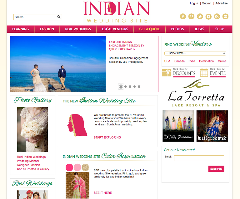 Screen Shot 2016 02 17 at 9.43.46 PM(pp w768 h638) Featured on Indian Wedding Site | Nadia & Rahul Engagement Session