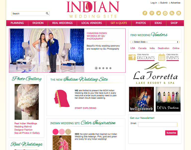 Screen Shot 2016 02 18 at 11.17.16 PM(pp w768 h605) Featured on Indian Wedding Site | Nadia and Rahuls Stunning Indian Wedding at Red Rose Covention Centre and Le Dome