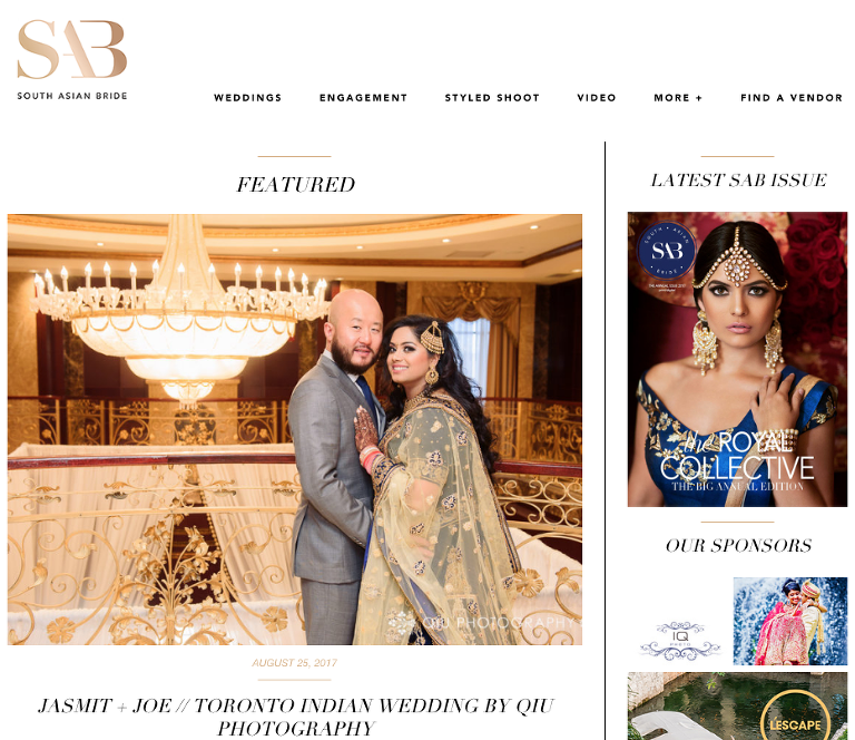 Screen Shot 2017 08 28 at 5.37.06 PM(pp w768 h664) Featured on South Asian Bride | Toronto Indian Wedding Photography | Jasmit & Joes Gorgeous Sikh Wedding
