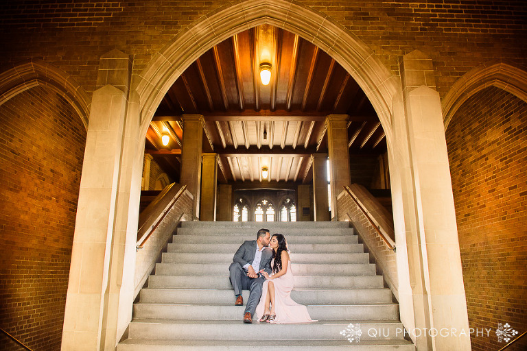 UofT eshoot AT011(pp w768 h512) Toronto Engagement Photography | University of Toronto Hart House | Annika & Taz