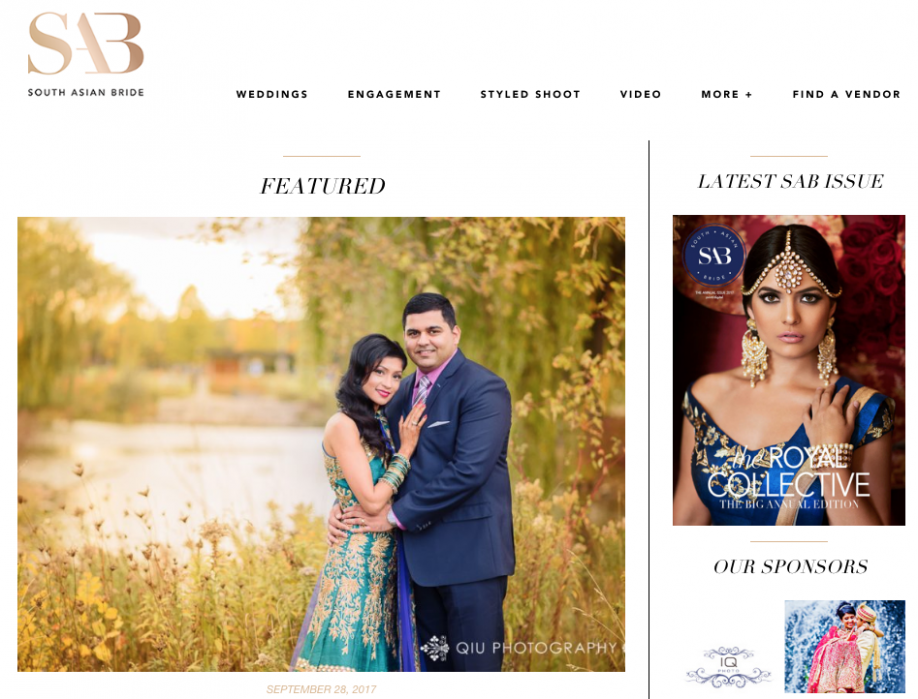 Screen Shot 2018 03 09 at 6.06.23 PM FEATURED ON SOUTH ASIAN BRIDE | Toronto Indian Wedding Photography | Jenny & Amit Wedding