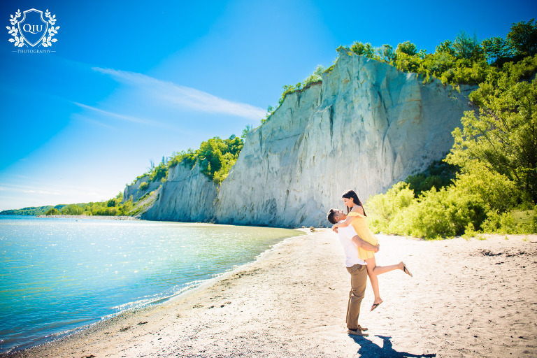 Mississauga Indian Engagement Photograpy Scarborough Bluffs 01(pp w768 h512) Toronto Engagement Photography | Scarborough Bluffs | Dhvani & Chetan